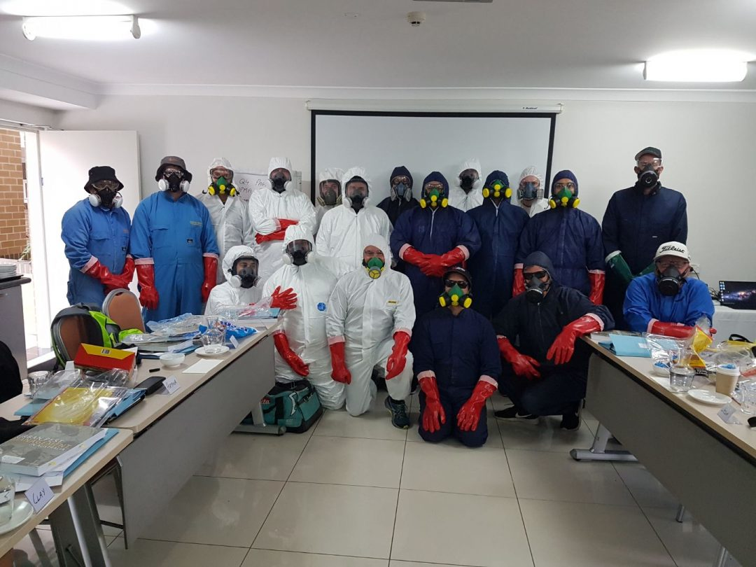 Classroom of pest management course students